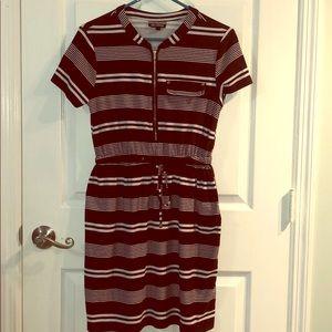 allison brittney Black/White striped casual dress